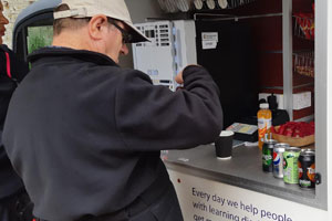 Coffee van run by learning disability charity