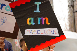 'I am marvellous' sign at the Tate Exchange Festival of Creativity