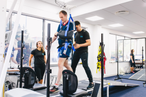 neurokinex on treadmill chosen as the first international NeuroRecovery Community Fitness and Wellness Affiliate of the Christopher & Dana Reeve Foundation