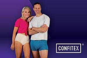 Two people in Confitex Go-Anywhere Underwear