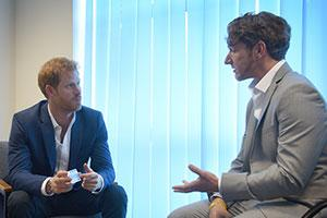 headway Prince Harry and Dominic Hurley