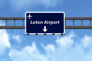 Luton airport sign