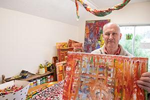 A man with learning disabilities makes his gallery debut