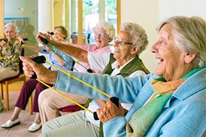 Over 65s staying fit and active